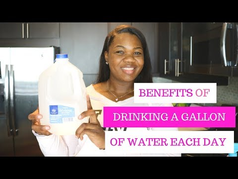 WHAT DRINKING A GALLON OF WATER A DAY DID FOR ME ||WEIGHT LOSS ||2018