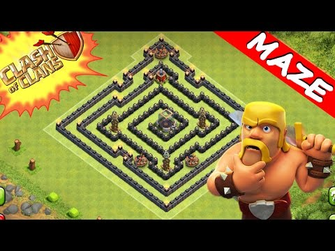 Clash Of Clans | TRICKY MAZE BASE! | SUPREME TROLL / TRAP BASE 2015 (TH8)