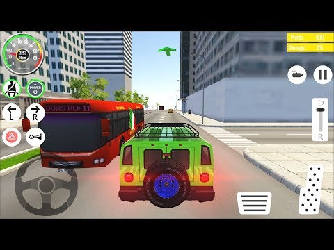 Car Driving School 2019 - Green SUV Car Games Android Gameplay #2