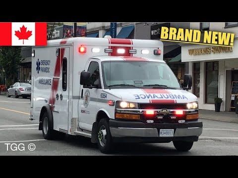 *BRAND NEW* BCAS Ambulances Responding Siren & Lights + Durango Paramedic Specialists [VANCOUVER]