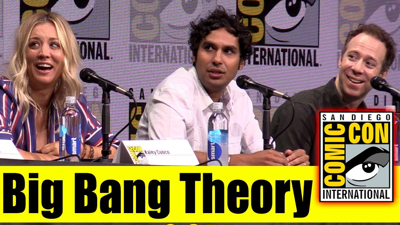 Big Bang Theory Comic Con 2017 Full Panel Kaley Cuoco Johnny Galecki Kunal Nayyar Youtube