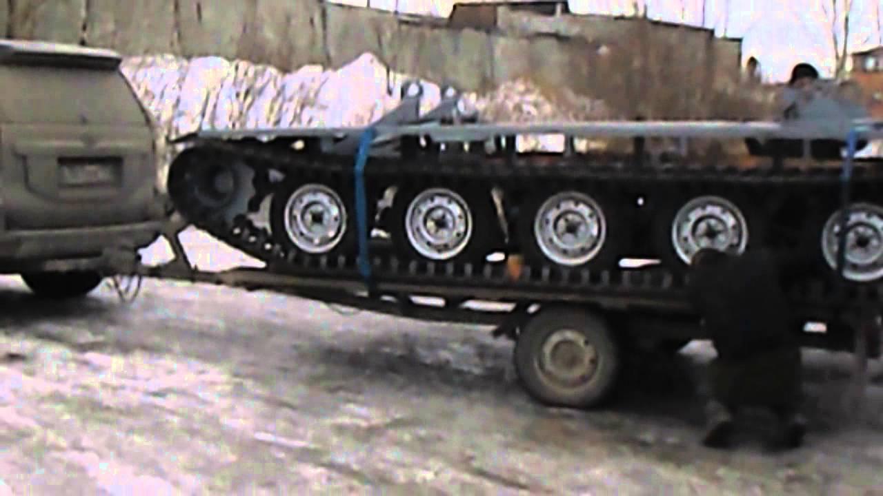 Гусеницы на УАЗЕ - YouTube