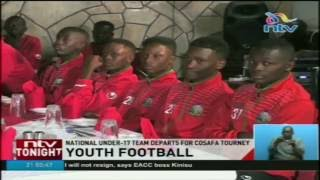 The national under 17 football team departed the country this after...