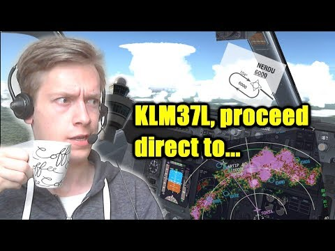 VATSIM Tutorial: How to Deal with ATC Instructions & the FMS Enroute!