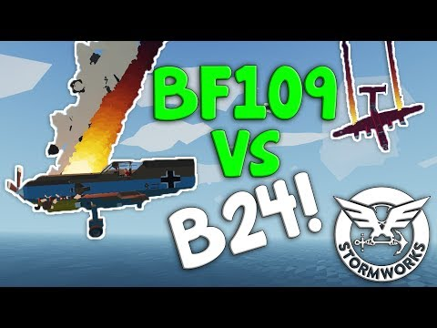 B24 SHOOTS DOWN GERMANS!  -  Stormworks: Build And Rescue  -  Multiplayer