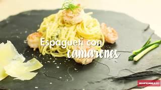 Spaguetti con camarones