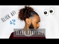 Sleek Ponytail on Natural Hair | Tutorial