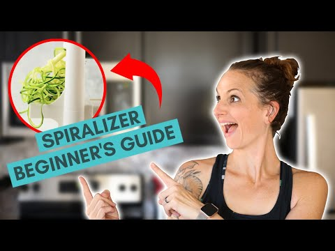 Spiralizer Beginners Guide - Veggie Spiralizer Recipes | How To Spiralize | A Sweet Pea Chef