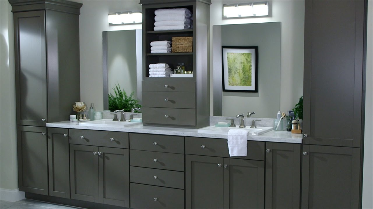 Custom Bath Cabinetry - Martha Stewart - YouTube