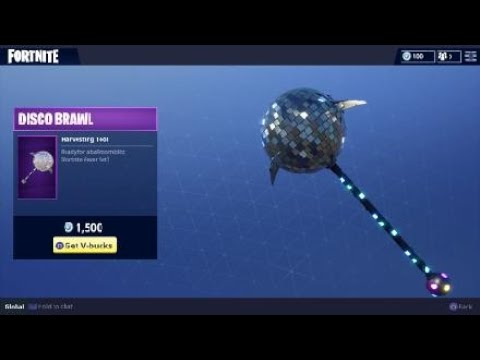 Fortnite Disco Brawl Harvesting Tool Item Pickaxe Skin