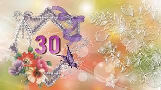 Футаж 30 лет Красивый текст 30.Красивая цифра 30.Заставка футаж Footage Intro Number 30 Animation