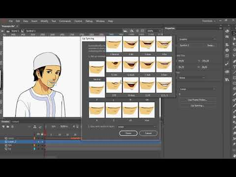 Auto Lip Sync Feature In Adobe Animate CC 2019 Part 2
