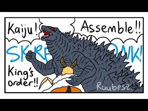 Download Godzilla KOTM | MOTHRA'S DEATH IN AMONG US! (Godzilla Comic Dub)