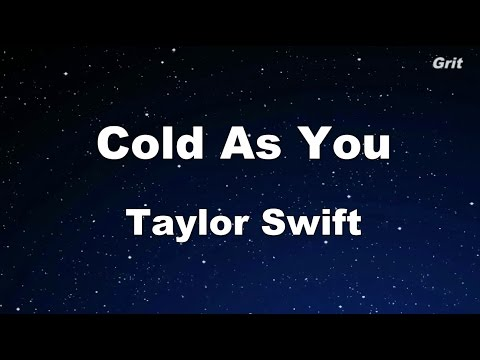 Cold as You -Taylor Swift  Karaoke【No Guide Melody】