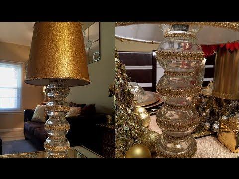 Dollar Tree DIY - 💕 Gold Desk Lamp💕
