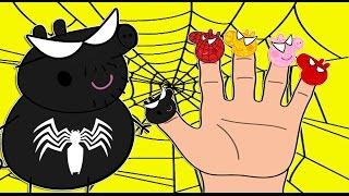 vuclip Peppa Pig Sipderman Finger Family | Spiderman Suprise Egg | Nursery Rhymes Songs For Kids | SUNTV