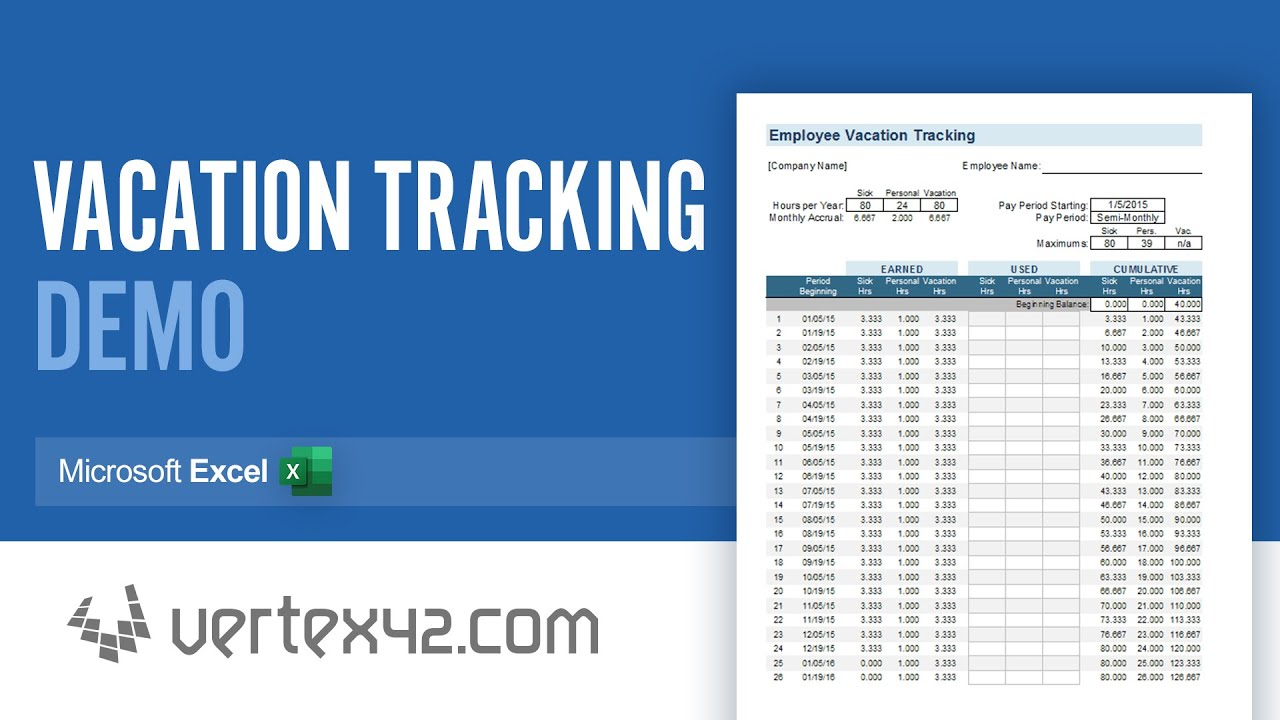 How to use the leave tracker · step 1: Vacation Accrual And Tracking Template With Sick Leave Accrual