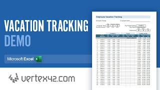 How To Use The Vacation Tracking Spreadsheet Youtube