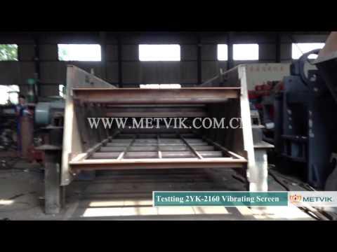 Testing 2YK 2160 Vibrating Screen of Shanghai Metvik® Company
