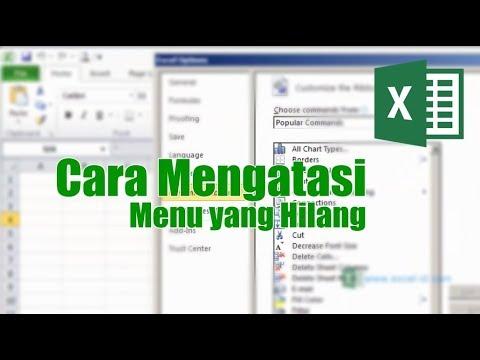 Cara Menampilkan Menu Yang Hilang pada Ms Excel - YouTube