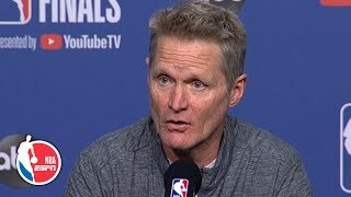 Kevin Durant ruled out for Game 2 by Steve Kerr | 2019 NBA Finals