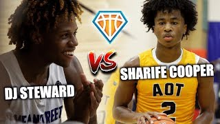 SHARIFE COOPER vs DJ STEWARD NEEDS OVERTIME!! | Elite PGs PUT ON A SHOW at Peach Jam