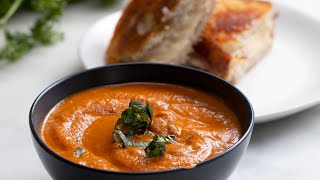 Slow-Cooker Roasted Tomato Basil Soup