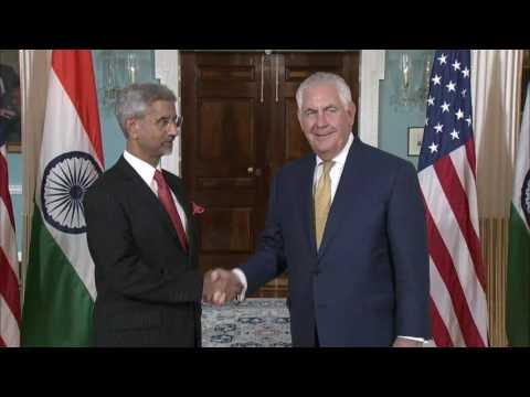 Secretary Tillerson Meets with Indian Foreign Secretary Jaishankar