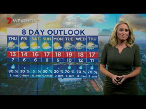 Jane Bunn: Not just the chance of showers tomorrow, there should be lots of them...