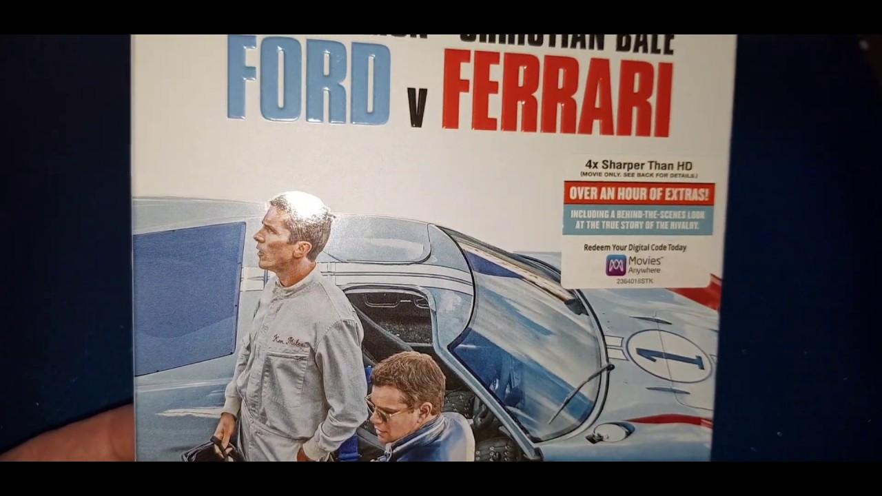 Ford V Ferrari 4k Ultra Hd Blu Ray Unboxing Menu Youtube