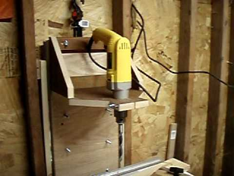 Homemade Drill Press - YouTube