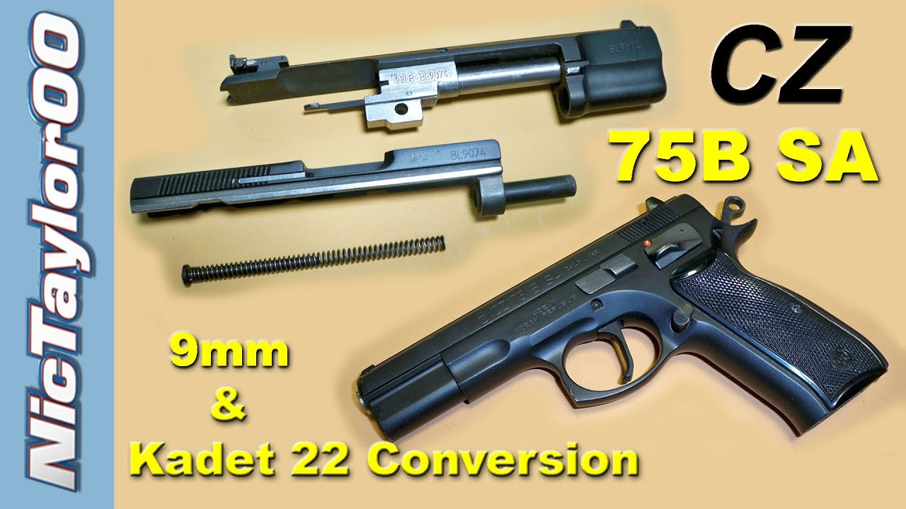 CZ 75B SA (Single Action Only) 9mm & Kadet Conversion REVIEW