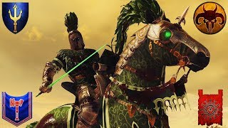 Crazy Free for All For Ze Lady The Green Knight Rides Total War Warhammer 2 Gameplay