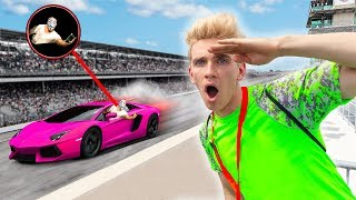 UNDERCOVER Race Car Mission to Recover Top Secret Code!! (Stop Sharerghini From Mystery Hackers)