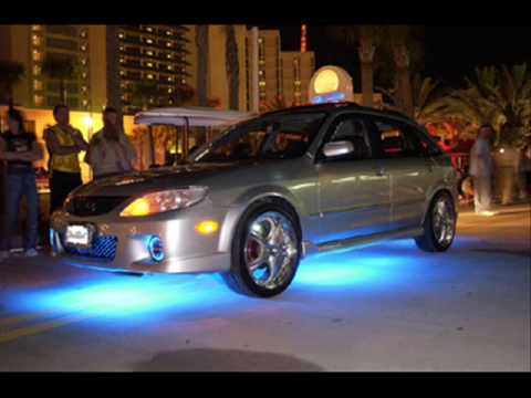 car tuning with neon lights youtube. Black Bedroom Furniture Sets. Home Design Ideas