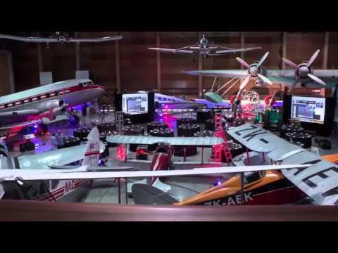 MOTAT Aviation Display Hall function set up transformation