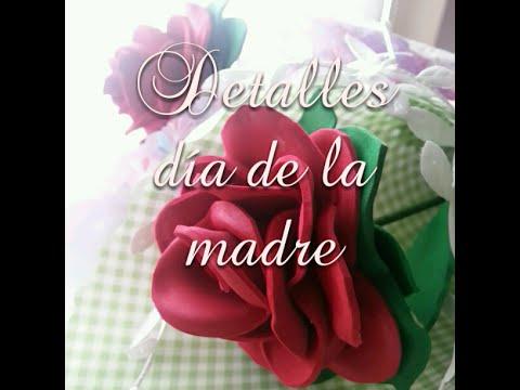 Manualidades Para El Dia De La Madre Flores De Goma Eva Y