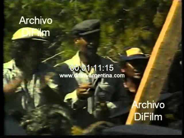 Carlos Menem en campaña electoral por la provincia de Entre Rios 1989