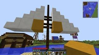 ماين كرافت #45 بناء قارب شراعـي صغير !