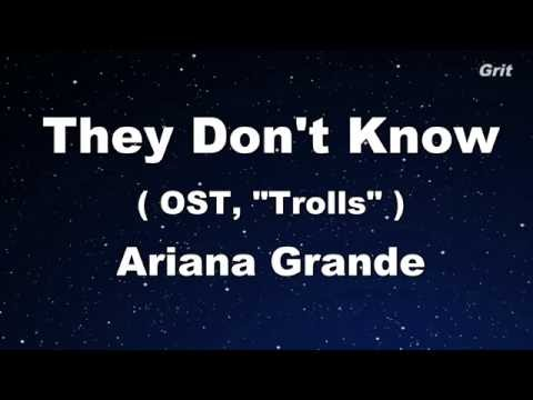 They Don't Know - Ariana Grande Karaoke 【No Guide Melody】 Instrumental