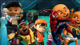 Lagi! BoBoiBoy SPIDERMAN dan ELSA FROZEN | Kuasa 7 vs JOKER upin ipin! #PCT TOYS