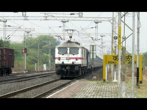 WAP7 Thunder at Kohli : Front Panto LGD WAP7 with Danapur - Secunderabad Express : INDIAN RAILWAYS