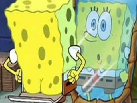bottoms up (spongebob style)