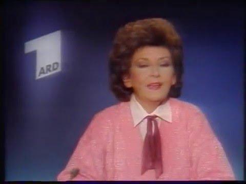 """ARD-Ansage """"Lausbubengeschichten"""" von 1985 mit Claudia Doren"""