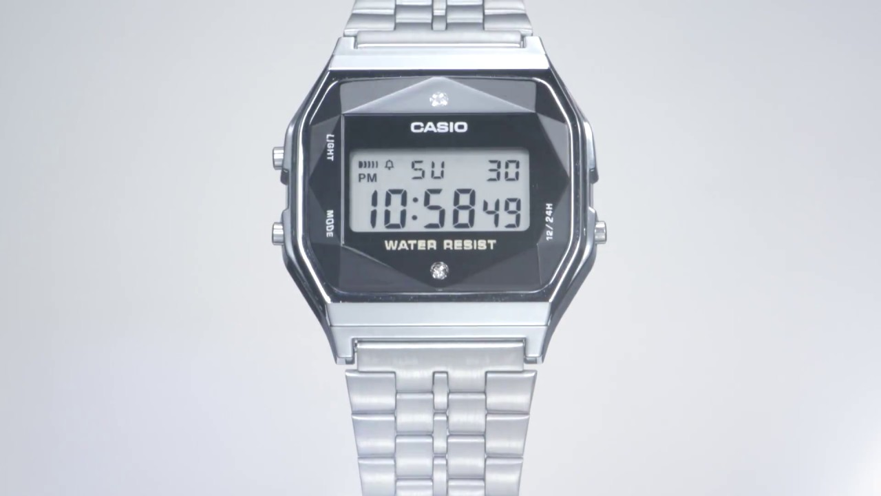 647212b89ebc2 CASIO A159 Made in Japan with Authentic Diamonds - YouTube
