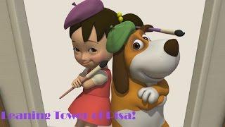 Английский язык для малышей - Мяу-Мяу - Пизанская башня (Leaning Tower of Pisa) - учим английский