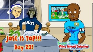 🎄DAY 23🎄 Chelsea's Christmas Number one! Jose Mourinho celebrates! (Football cartoon)