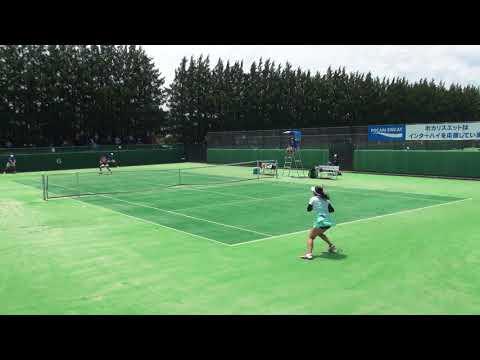 7日 テニス女子シングルス 会津総合運動公園6コート 愛知啓成vs浦和麗明 準決勝1