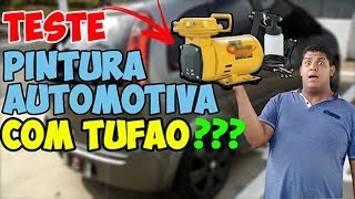 COMPRESSOR AR DIRETO NA PINTURA AUTOMOTIVA - TUFÃO consegue PINTAR CARRO?