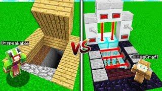 Minecraft NOOB VS PRO: SAFEST BASE in MINECRAFT! (W/ UnspeakableGaming)
